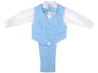 Детски костюм Пиер в светло синьо (от 9мес до 9г.)