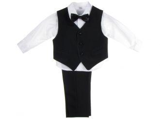 Детски костюм Пиер в черно (от 9мес до 12г.)