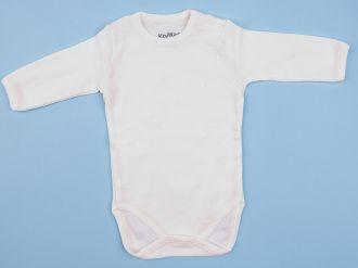 Памучно детско боди в бяло и екрю (от 62 до 98см.)