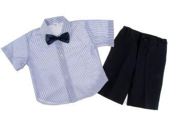 """Детски костюм """"Малък мъж"""" лято в синьо (от 3 месеца до 5г.)"""
