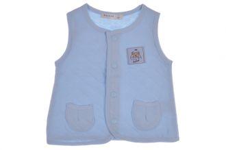 Бебешки елек в синьо от (74см. до 98см.)