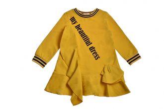 Детска рокля с дълъг ръкав ( от 2г до 7г.)