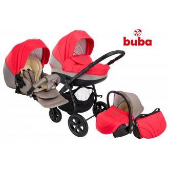Buba City бебешка количка 3в1 Сива/Корал