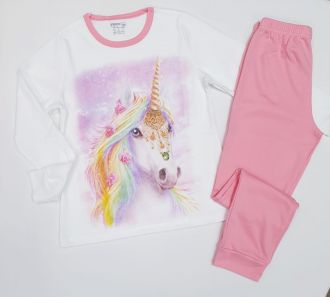 "Детска пижама ""Еднорог"" интерлог (от 134см до 170см)"