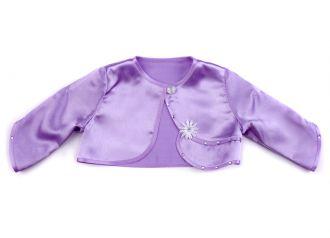 Детско болеро от сатен в лилаво