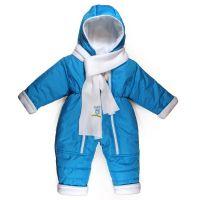 Зимен бебешки космонавт с шалче в синьо ( от 68 до 80см.)