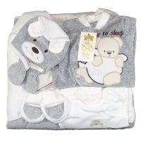 Зимен комплект за изписване с порт бебе в сиво