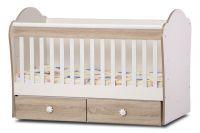 Детско легло Тони - Dizain Baby Бяло/Дъб