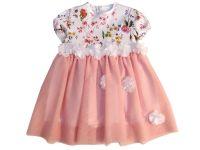 """Официална детска рокля """"Цветя"""" (от 80 до 98см.)"""