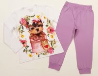 Детска пижама Венера Класик - Кученце - Лилаво (от 134см до 152см)