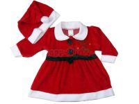 Бебешка коледна рокля (от 68см до 86см)