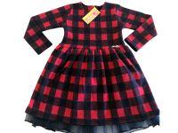 """Детска зимна рокля """"Каре"""" (от 92 до 110см)"""
