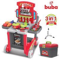 Детска кухня Buba Little Chef, Куфар, Червена