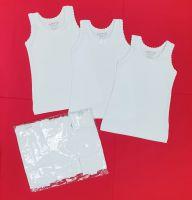 Детски потник за момиче памук ликра в бяло (от 92см до 170см)