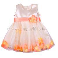 """Детска официална рокля """"Цветя"""" (6м. до 8г.)"""