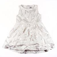 """Детска рокля """"Модерна принцеса"""" в бяло (от 80 до 86см.)"""