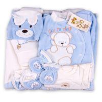 Плюшен комплект за изписване с порт бебе в синьо