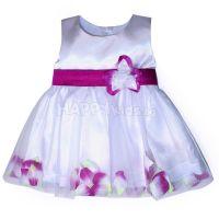 """Детска официална рокля """"Цветя""""  с лилаво (от 6м. до 8г.)"""