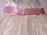 """Детска официална рокля """"Цветя"""" с розово (от 6м. до 8г.)"""