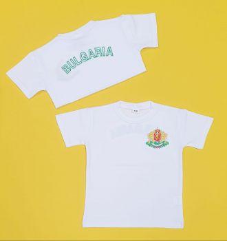 Детска тениска с емблемата на България (от 62 до 176см.)