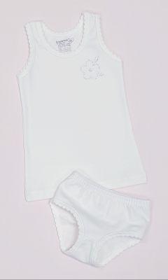 Детско бельо за момиче памук ликра в екрю (от 92 до 140см.)