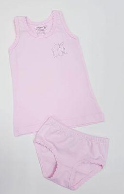 Детско бельо за момиче памук ликра в розово (от 92 до 140см.)