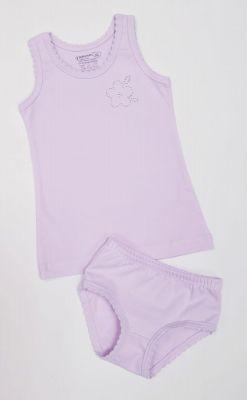 Детско бельо за момиче памук ликра в лилаво (от 92 до 140см.)