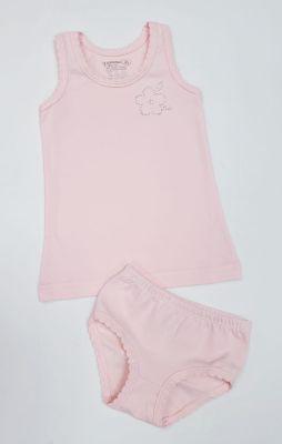 Детско бельо за момиче памук ликра в праскова (от 92 до 140см.)
