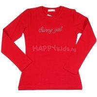 Детска блуза за момиче в червено