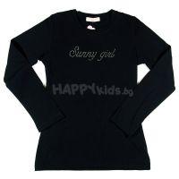 Детска блуза за момиче в черно