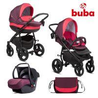 Бебешка количка 3в1 Buba Bella 706, Burgundy
