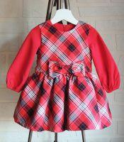 Детска официална рокля каре (от 104 до 110см)