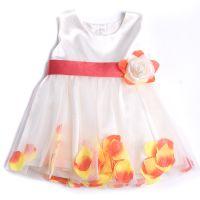 """Детска официална рокля """"Цветя"""" с корал (от 6м. до 8г.)"""