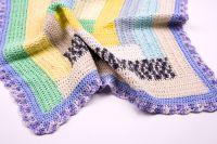 Бебешка пелена ръчно плетиво