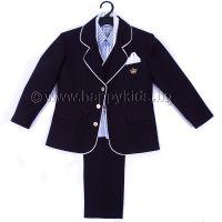 """Официален костюм """"Малък Мъж"""" в тъмно синьо"""