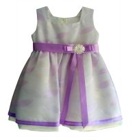"""Детска рокля """"Финес"""" в екрю (от 6м. до 6г.)"""